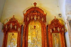 Het schilderen van heilige Demetrios stock afbeeldingen
