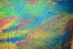Het schilderen van het abstracte schilderen met penselen Stock Foto