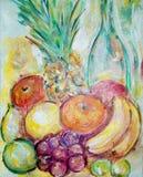 Het schilderen van het fruit vector illustratie
