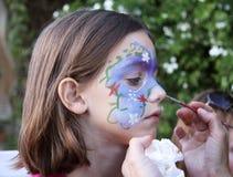 Het schilderen van het gezicht Stock Fotografie