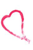 Het Schilderen van het hart Stock Foto