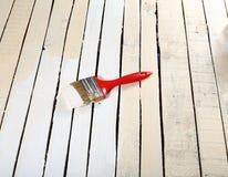 Het schilderen van het hout Stock Foto's