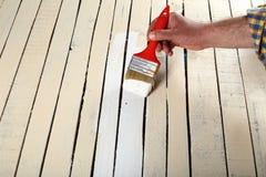 Het schilderen van het hout Royalty-vrije Stock Foto's