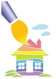 Het schilderen van het huis vector illustratie