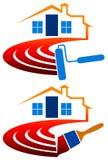 Het schilderen van het huis embleem vector illustratie
