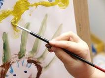 Het Schilderen van het kind Royalty-vrije Stock Afbeeldingen