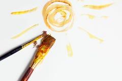 Het schilderen van het kind stock foto