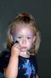 Het schilderen van het kind gezicht Stock Foto's