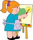 Het schilderen van het meisje royalty-vrije illustratie
