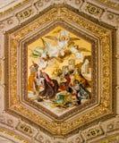 Het Schilderen van het plafond in het Vatikaan stock fotografie