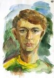 Het schilderen van het portret Stock Afbeeldingen