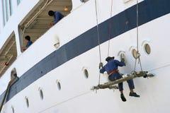 Het schilderen van het schip. stock foto