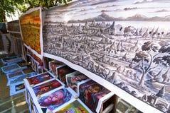 Het schilderen van het zand in Myanmar Royalty-vrije Stock Afbeelding