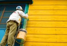 Het schilderen van huizen in boca van La Royalty-vrije Stock Afbeelding