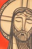 Het schilderen van Jesus Christ bij zijn Hartstocht royalty-vrije illustratie