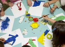 Het schilderen van kinderen Stock Fotografie