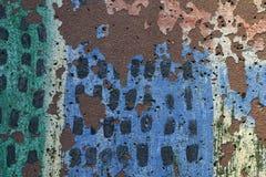 Het schilderen van kinderen of stoepkunst met schil en afgebroken texturen Stock Fotografie
