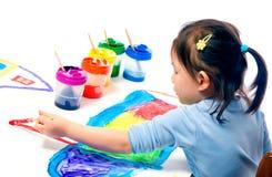 Het Schilderen van kinderjaren Stock Foto's