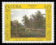 Het schilderen van Landschap door Valentin Sanz Carta royalty-vrije illustratie