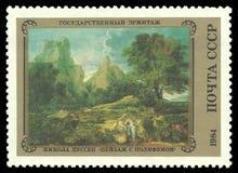 Het schilderen van Landschap met Polyphemus stock fotografie