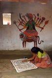 Het schilderen van Madhubani in bihar-India Royalty-vrije Stock Foto's