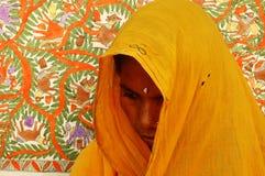 Het schilderen van Madhubani in bihar-India Stock Afbeeldingen