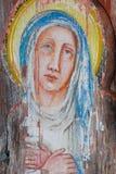 Het schilderen van Madonna no.1 Stock Foto's