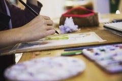 Het schilderen van mijn beeld Stock Afbeeldingen