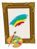 Het schilderen van patroon stock illustratie
