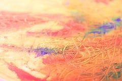 Het schilderen van samenvatting Mengelingsolieverven op canvas Stock Foto's