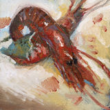 Het schilderen van shirmps Royalty-vrije Stock Afbeelding