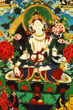 Het schilderen van Tibet Stock Foto's