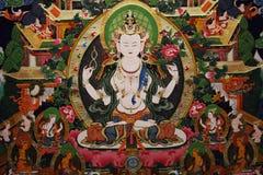 Het Schilderen van Tibet Thangka Stock Afbeeldingen