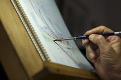 Het schilderen van Waterverf Royalty-vrije Stock Foto's