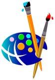 Het schilderen van wereld royalty-vrije illustratie