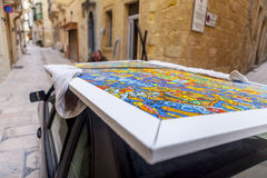 Het schilderen vervoer royalty-vrije stock foto's