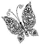 Het schilderen vlinder, ontwerp van het wervelings het abstracte element Royalty-vrije Stock Foto