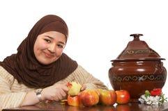 Het schilmesje van de appel Stock Fotografie
