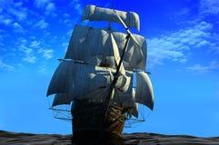 Het schip Stock Afbeeldingen