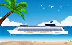 Het schip Costa Luminosa van de cruise royalty-vrije illustratie