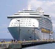 Het Schip en de Passagiers van de cruise Royalty-vrije Stock Foto's