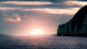 Het schip gaat Zonsopgang op Horizon over stock videobeelden