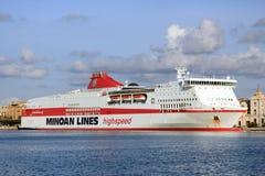Het schip Olympia Palace van de cruise Stock Afbeeldingen