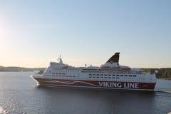 Het schip op de Oostzee Stock Foto's