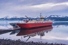 Het Schip in Puerto Williams Royalty-vrije Stock Foto