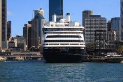 Het Schip SS Zaandam van de cruise in Haven Syndey stock afbeeldingen