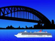Het schip Sydney van de cruise stock illustratie