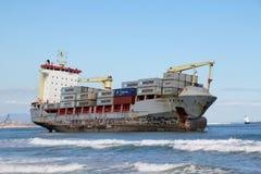 Het schip van Beached Stock Fotografie