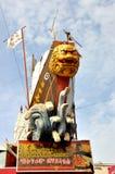 Het Schip van Cheng Ho in de Straat van Melaka Stock Foto's