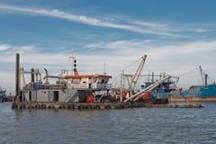 Het schip van de baggermachine Royalty-vrije Stock Fotografie
